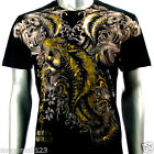 Artful Couture T-Shirt M L XL XXL Foil Koi Fish Japanese Tattoo Rock Biker AB21