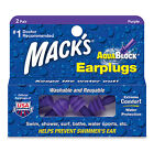 Mack's (Macks) AquaBlock Ear Plugs (Purple)