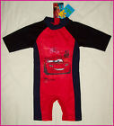 BOYS CARS RASHSUIT Sz 2 4 6 or 8 RASH SUN SUIT Swimwear BATHERS Rashi Togs NEW