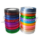 "1 Roll 25 Yards 3/8"" 10mm Satin Ribbon Craft Bow Wedding Party Supply Colours"