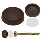 HAMERSLEY BROWN ,TWO PIECE DOME SCREW CAP COVERS SNAP CAPS PRO-DEC FIXINGS