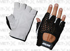 Weight Lifting Training Gloves, Gym Gloves Black Mesh White Leather S,M,L,XL