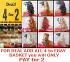Clip in ponytail pony tail hair extension pieces UK premium wavy curly straight