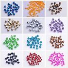200pcs 6mm Faceted Glass Crystal Charms Loose Findings Spacer Bicone Beads