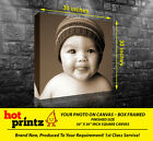 Your Picture Image Photo On Personalised Square Box Canvas Size 30x30 inch