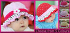 BABY SUN HAT -Sz 6 mths - 2 yrs  GIRLS SUNHAT - Toddler Cap NEW -Choose Colour