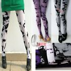 Artsy Tie Dye Opaque 120D Withfoot Tights Stockings Pantyhose  hos106