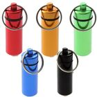 Multi-color Waterproof Aluminum Pill Box Cash Container Holder Keyring Keychain