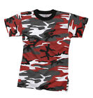 KID'S RED CAMO T- SHIRT- RED CAMOUFLAGE TEE SHIRT