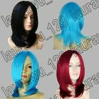 Medium Ex-Long Bangs All Color Silky Straight Cosplay Wig Free Shipping XR
