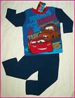 DISNEY CARS Sz 3 4 6 or 8 Lightning McQueen Mater - Blue WINTER PJs PYJAMAS New