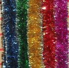 6PLY x 2.24M 6.5cm DIAMETER LUXURY SILVER TIPPED TINSEL CHRISTMAS  DECORATION