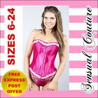 "Sexy Corset ""Hot Pink"" Size 6 - 24 Bustier Burlesque Sexy Lingerie Clubwear"