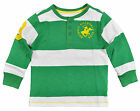 Beverly Hills Polo Big Boys Green & White Striped Top Size 8/10 12/14 16/18 $32