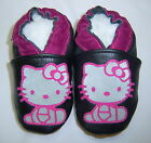 HELLO KITTY black soft soled leather baby shoes 0-6 mos 6-12 mos 12-18 mos 18-24