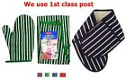 Butchers Striped Apron Single Double Mitten 100% Cotton PVC Lined Four Colours