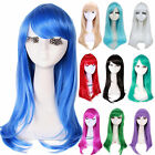 Long straight obique bang fashion Cosplay hair wig 10 colors multiple list CW143