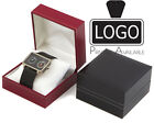 12x Luxury Leatherette Watch/Bracelet Jewellery Box with Cushion Black or White