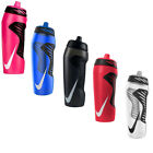 NEW NIKE BIG SPORTS GYM WATER BOTTLE 600ML,EASY GRIP, LEAKPROOF VALVE SCEW CAP