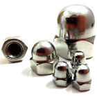 M5 (5mm) A2 STAINLESS STEEL DOME NUTS - DIN 1587 - METRIC THREAD - QUAD, BIKE