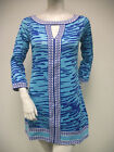 Tracy Negoshian Mistie Dress Royal Blue Jersey Knit 3/4 Sleeve Animal NEW NWT