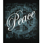 T133 - Peace Languages Word Cloud 2 Color Men's / Unisex T-shirt