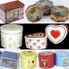 BIG OR SMALL STORAGE TINS CAKE / TREAT GREEN WHITE RED HEART CHRITMAS X MAS GIFT