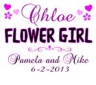 Personalized FLOWER GIRL T-SHIRT Customized Wedding Gift Any Name & Info Printed