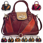 New Designer Boutique Multi Colour Top Handle Zip Pockets Womens Satchel Handbag