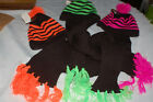 Girls Neon High Viz Hat and Attached Scarf Combo (Various Colours)