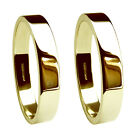 4mm 18ct Yellow Gold Wedding Rings Flat Profile 750 UK HM Extra Heavy Bands NEW