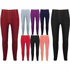 Womens Denim Jeggings Skinny Slim Fit Jeans Look Leggings 9 Colours 8 10 12 14