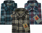 New Mens Flennel Lumberjack Check Brushed Cotton Work Shirt M - Xxl By Tom Hagan