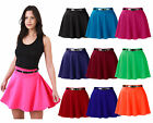 Plus Size Ladies Womens Belted Full Flare Jersey Skater Skirt Size 16-20