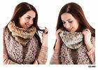 Ladies Faux Fur Neckwarmer/Scarf/Short Funnel Snood with Silky Lining, 2 Colours