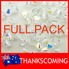 GENUINE SWAROVSKI BEADS 5328 Crystal 001AB * ALL SIZES * Bicone Factory Pack