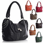 New Fashion Boutique Silver Padlock Faux Leather Designer Shoulder Handbag