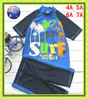Boys Rash Suit Rashie Set UPF 50+ Bathers Set Swimsuits Swimwear Size 3-6