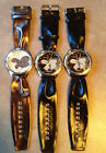 "Geneva Ladie's Large 2"" DIAMETER BUTTERFLY FACE WATCH WITH SHIMMER ACCENTS NEW"