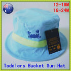 Baby Boys Toddler Soft Cotton Bucket Sun Hat Cap Wide Brim UPF 50+ Various Size