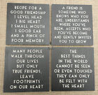 EAST OF INDIA DISTRESSED BLACK & CREAM SIGN RECIPE FOR A GOOD FRIENDSHIP