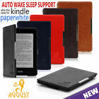 THIN FOLIO SMART PU LEATHER CASE COVER FOR AMAZON KINDLE PAPERWHITE 3G/WiFi