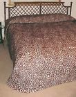 Leopard Faux Fur Luxury Bedspread - available in Twin, Dorm/Full, Queen, King  image