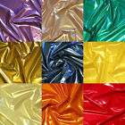 vinyl for fabric - SHINY METALLIC PVC VINYL for DANCE GOTH DRESS CATSUIT CORSET BALLOONS FABRIC 54
