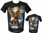 New Eagle Wolf Native American Indian Biker T Shirt M - 3XL By Wild