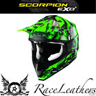 SCORPION VX-15 OIL GREEN MX MOTOCROSS ENDURO ATV DOWNHILL MOTORCYCLE HELMET