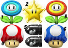MARIO STICKER WALL DECAL OR IRON ON TRANSFER TSHIRT FABRICS 1UP MUSHROOM BULLET
