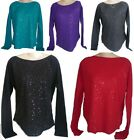 Womens AEROPOSTALE Long Sleeve Sequined Thermal Top Crew Tee Shirt NWT #5161