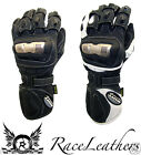 SCOTT LEATHERS UK TT MOTORCYCLE MOTORBIKE RACE SPORT GLOVES LEATHER + KEVLAR