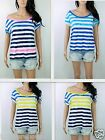 NEW Hollister  Women's Diver's Cove Stripe T-shirt By Abercrobie